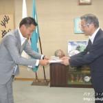 滋賀県遊協青年部会、教育委員会へ寄付金を寄贈
