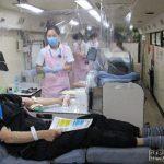 中国遊商が献血活動、64名の組合員らが参加