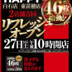 プレイランドハッピー東苗穂店(2021年2月27日リニューアル・北海道)