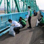 ノースランドとダイナムが協働で「黒部大橋」の清掃活動を実施