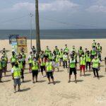 回胴遊商中部・北陸と中部遊商が合同で内海海岸の清掃活動実施
