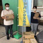 きっかけはTwitterでのやりとり ユーコーラッキーグループ、防災備蓄物資をフードバンク大牟田に寄贈